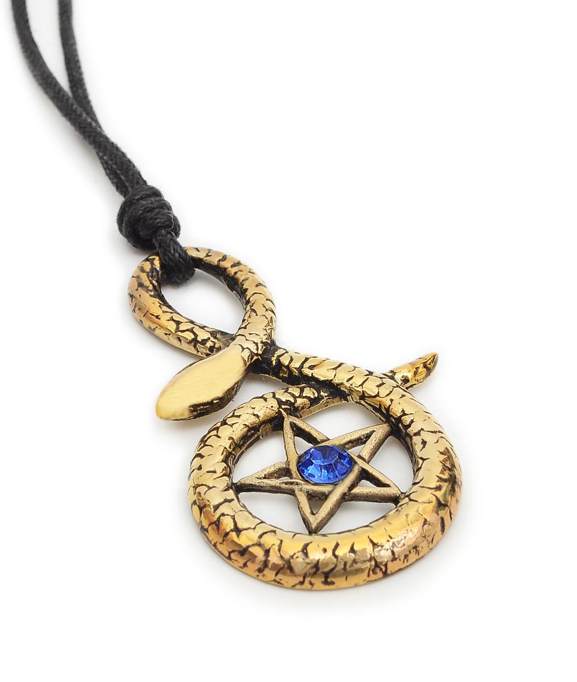pentagram snake handmade brass necklace pendant jewelry ebay