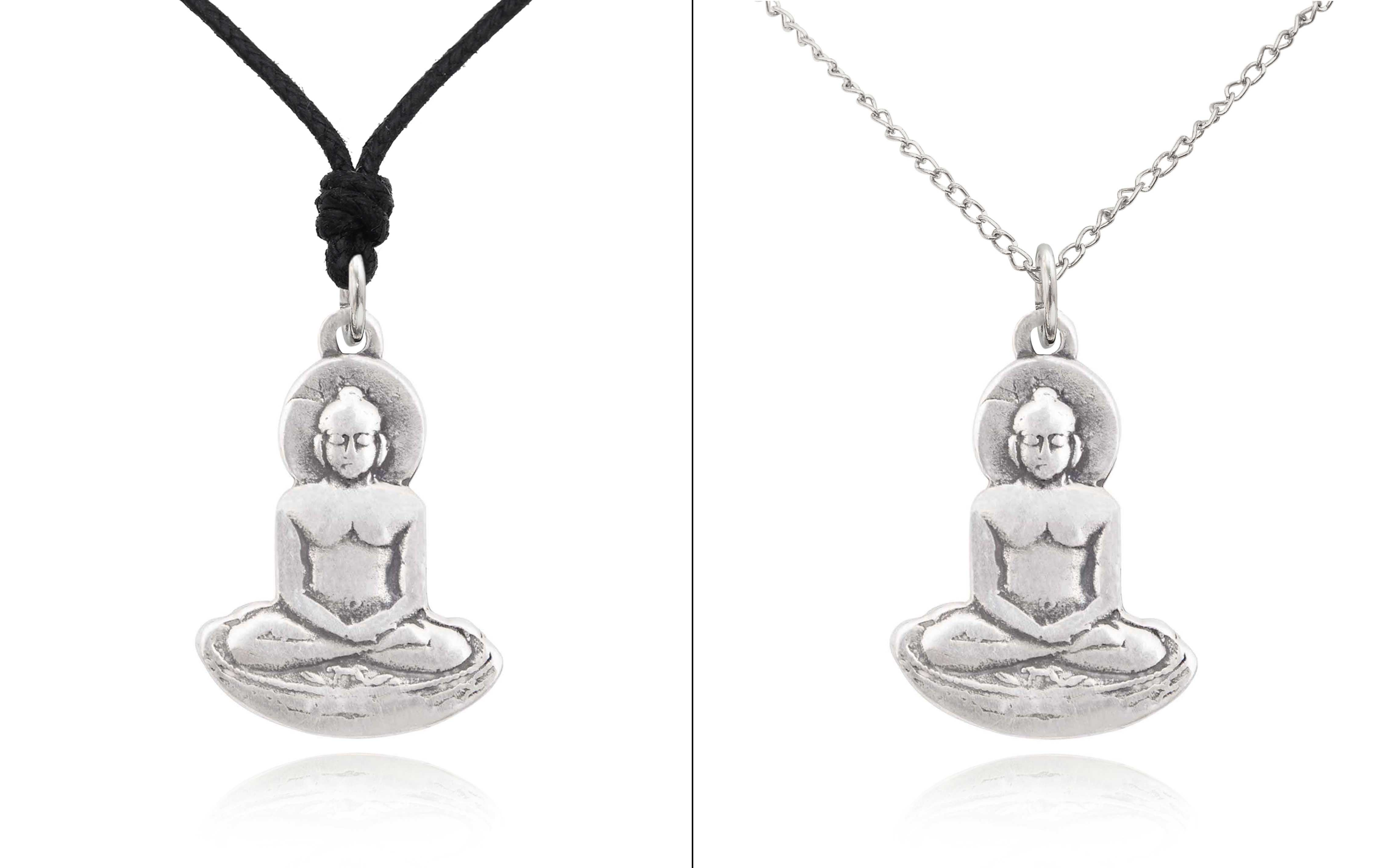 New buddha yoga sterling silver pewter brass charm necklace pendant image is loading new buddha yoga sterling silver pewter brass charm aloadofball Image collections