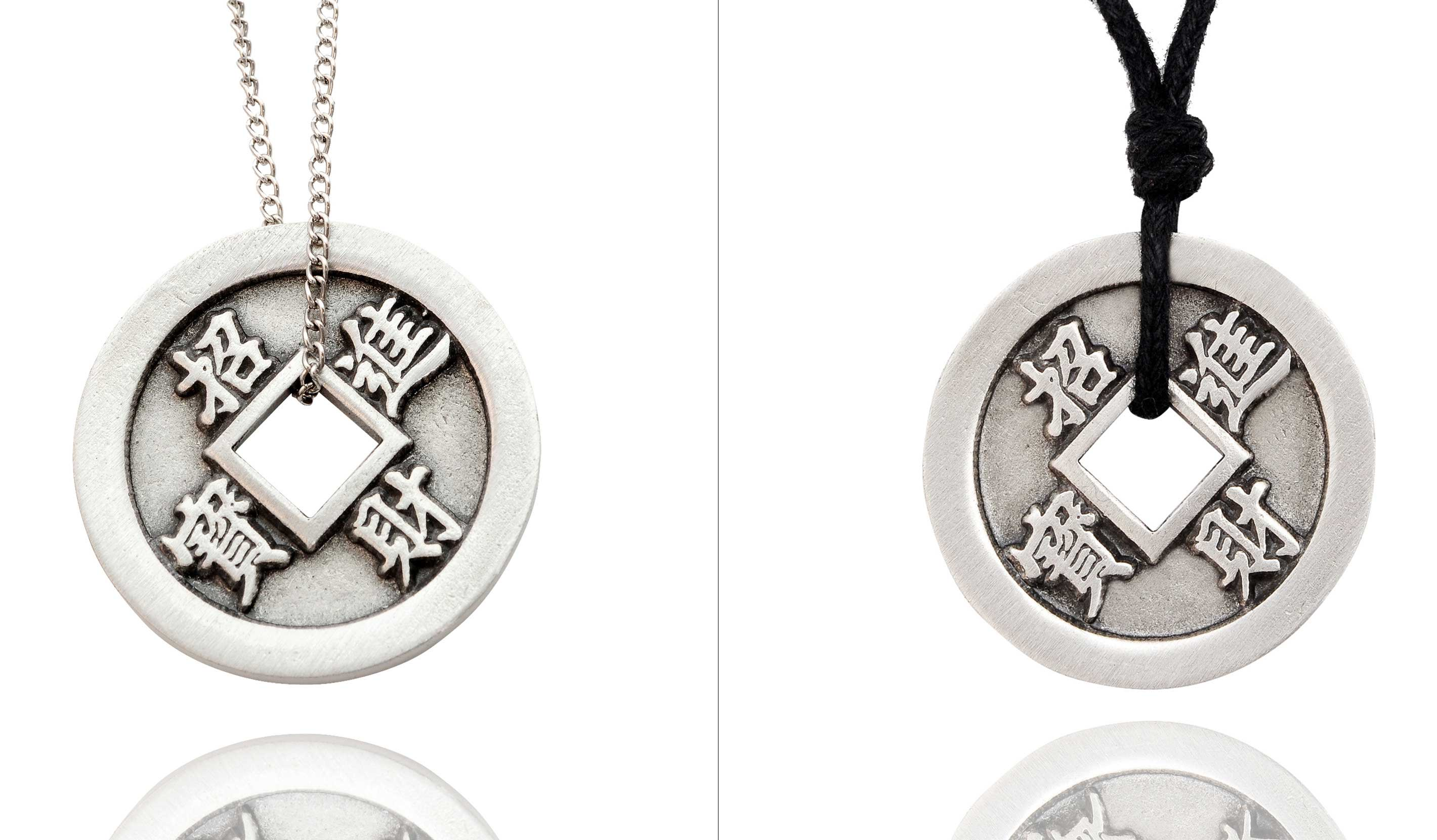 New chinese zodiac i ching silver pewter charm necklace pendant new chinese zodiac i ching silver pewter charm aloadofball Image collections