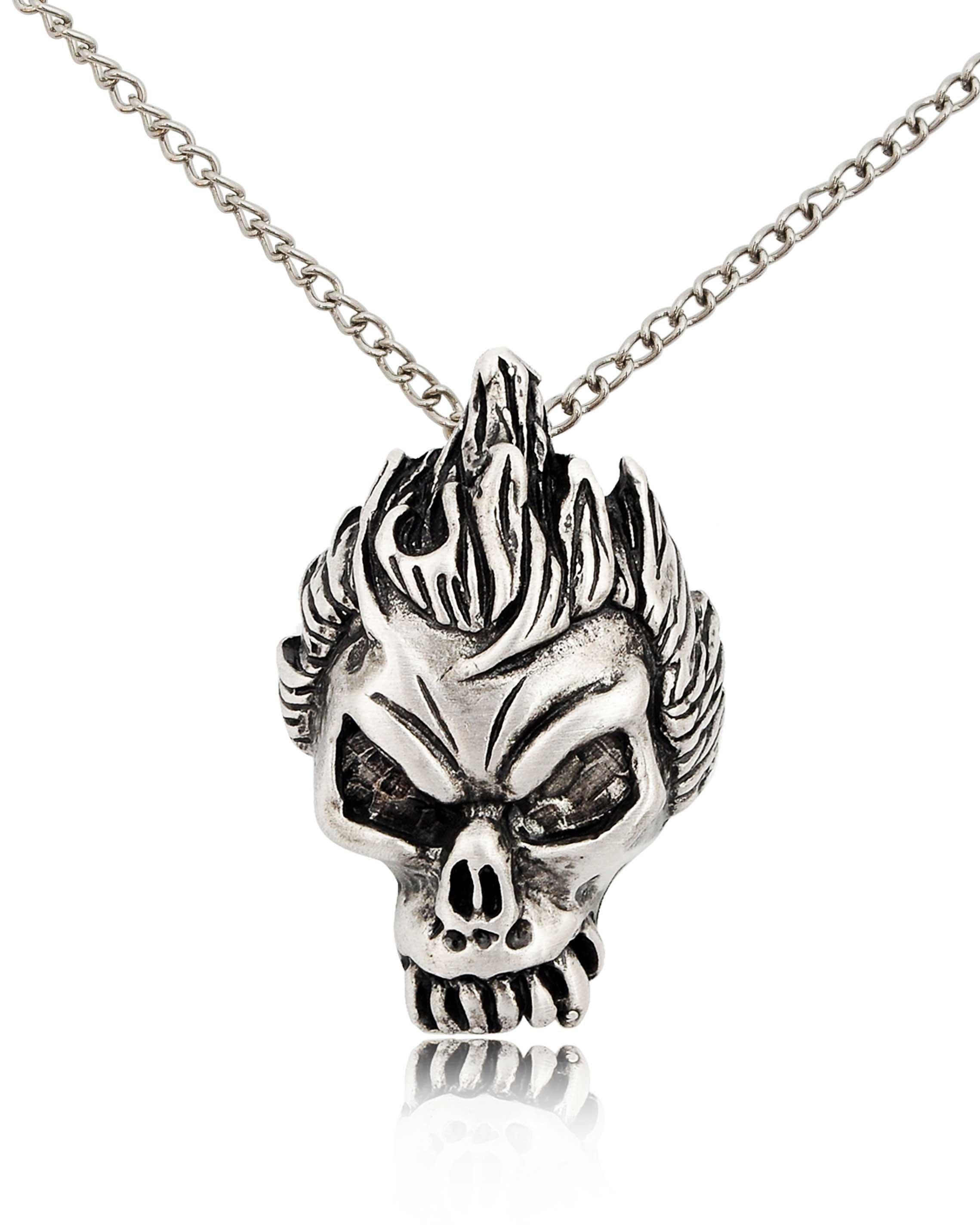 Handmade Gothic Harajuku Fashion W H Naoto Spiderweb Bag: Gothic Skull Handmade Brass Charm Necklace Pendant Jewelry